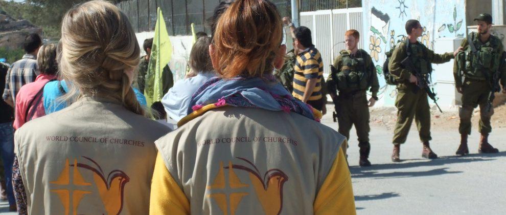 241014 - J Neslein - EAPPI at Al Ma'sara demonstration - Al Ma'sara