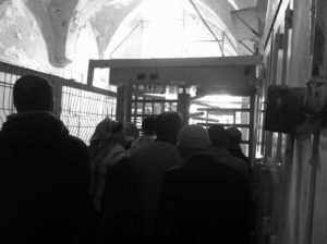 Checkpoint vor der Ibrahimi Moschee in Hebron, Photo: Irene
