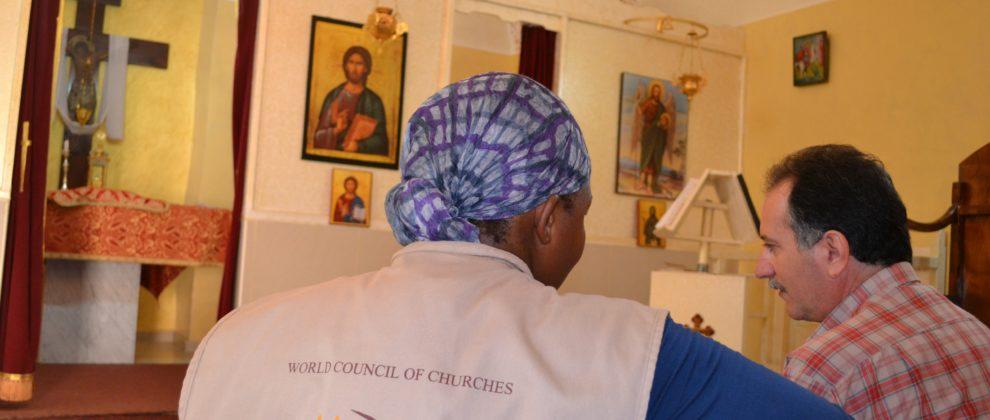 Church Visit Tulkarem (c) Mayr
